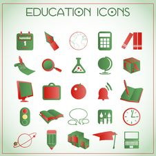 Free Education Icons Royalty Free Stock Photography - 27992487