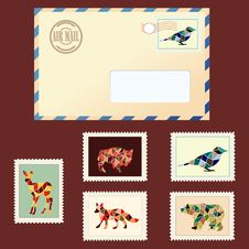 Free Envelope And Stamps Stock Photo - 27992490