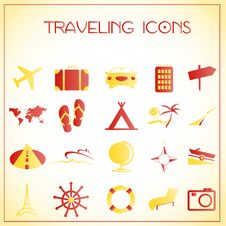 Free Traveling Icons Stock Image - 27992501