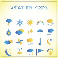 Free Weather Icons Royalty Free Stock Images - 27992519