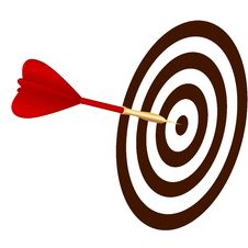 Free Vector Dart Hitting A Target Stock Photos - 27992523