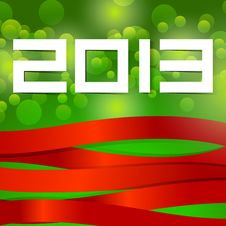 Free Abstract Illustrator New Year 2013 Royalty Free Stock Photos - 27993548