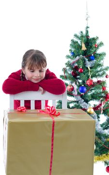 Free Curious About Xmas Present Stock Image - 27994241