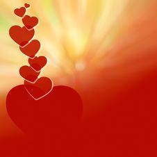 Valentine S Day Red Background-05 Stock Image