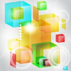 Abstract Background Of 3d Cubes. Stock Image