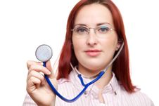 Free Medical Professional With Stethoscope Stock Images - 27995094