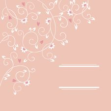 Free Background With Flowers And Hearts Royalty Free Stock Photos - 27996328