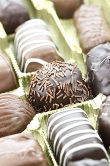 Free Chocolate Candies Royalty Free Stock Image - 27996506