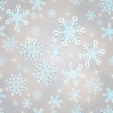 Free Seamless Snowflakes Background. Stock Image - 27997691