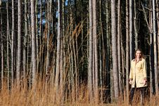 Free Pretty Blonde Woman Out In The Woods Royalty Free Stock Photos - 27998258