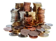 Free Piles Of Romanian Coins Stock Image - 27998971