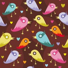 Free Seamless Pattern With Birds Royalty Free Stock Photography - 27999067