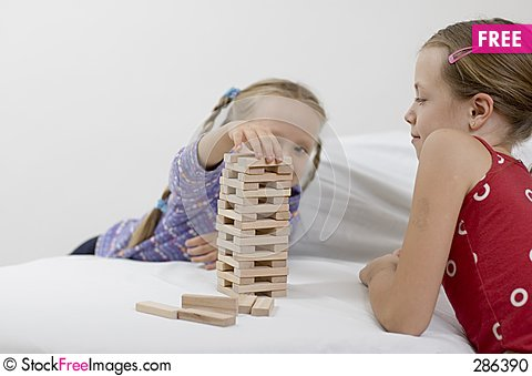Free Girls / Game / White Stock Photo - 286390
