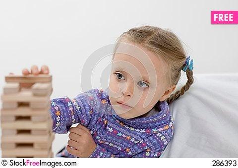 Free Girl / Game / White Stock Photos - 286393