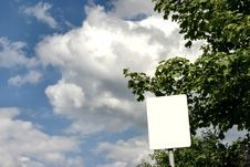 Free Empty Sign Post Against The Sky Royalty Free Stock Image - 280906