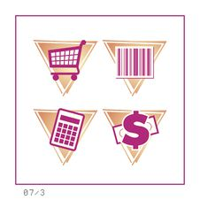 Free SHOPPING: Icon Set 07 - Version 3 Stock Photo - 281470