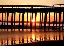 Free Pier Sunset Stock Images - 281844