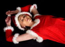 Free Female Santa Claus Stock Image - 281921