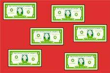 Free Dollar Wallpaper Royalty Free Stock Image - 284466