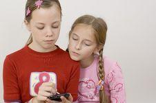 Free Girls / Palmtop Stock Photography - 285822