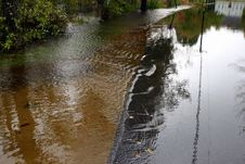 Free Flooded Country Roadway 3 Royalty Free Stock Images - 285979