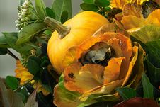 Free Pumpkin And Flowers Stock Photo - 287080