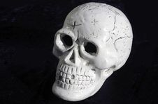 Free Skull Against Black Royalty Free Stock Photo - 287335