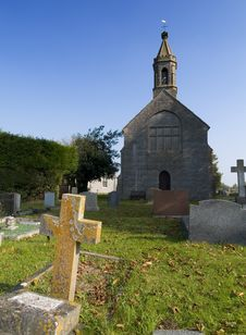 Free Church And Graveyard Stock Image - 288221