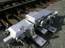 Free Railroad Switch Mechanism Royalty Free Stock Photography - 289247