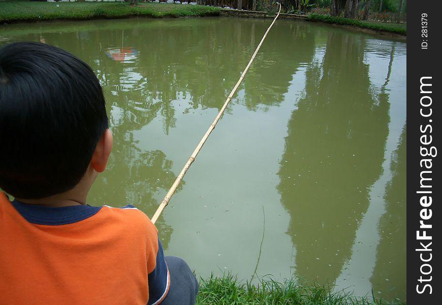 Little boy fishing 2