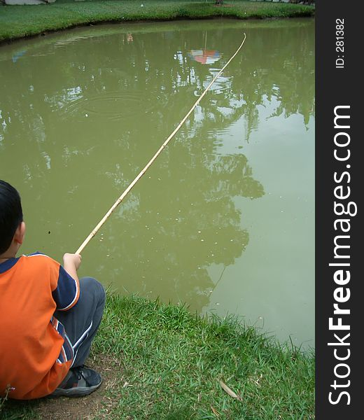 Little boy fishing 3