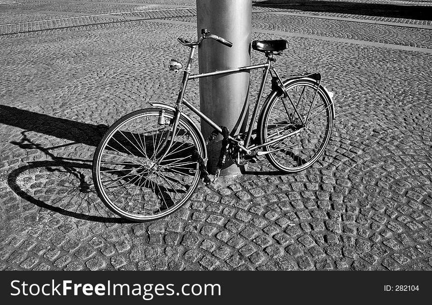 Lonely B&W Bike
