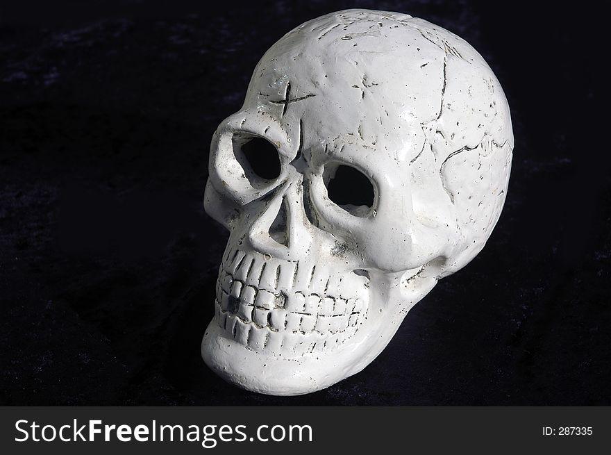 Skull Against Black