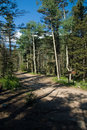 Free High Mountain Trail With Sign Royalty Free Stock Photos - 2803958
