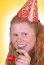 Free Yellow Party Portrait Stock Photos - 2809233