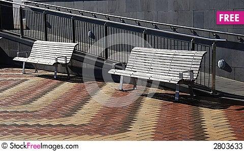 Free Two Park Benches Stock Photos - 2803633
