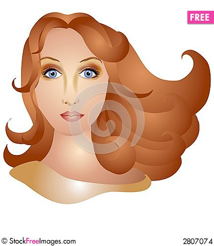 Free Woman With Long Brown Hair Stock Images - 2807074