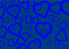 Free Blue Hearts Royalty Free Stock Image - 2801396
