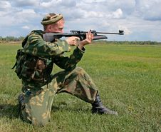 Shooting Soldier Stock Images