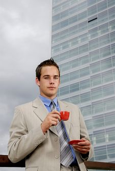 Free Businessman Drinking Coffee Royalty Free Stock Photo - 2804085