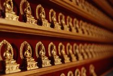 Free Gold Buddhas Stock Photos - 2804153