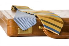 Free Ties And Briefcase Royalty Free Stock Photo - 2804165