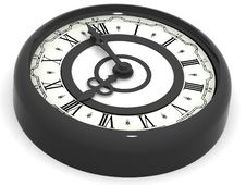 Clock. Eight O Clock Royalty Free Stock Image
