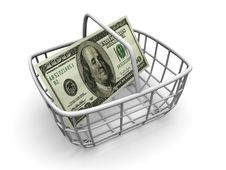 Free Consumer S Basket Royalty Free Stock Photography - 2805507