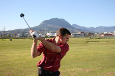 Free Golfer Backswing Royalty Free Stock Images - 2805529