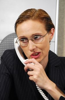 Free Business Woman Makes A Call Stock Image - 2806111