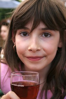 Free Young Girl Drinking Juice Royalty Free Stock Images - 2806459