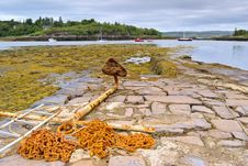 Free Rusty Anchor On Jetty Royalty Free Stock Images - 2806859