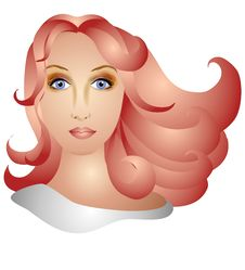Free Woman With Long Red Hair Stock Image - 2807071