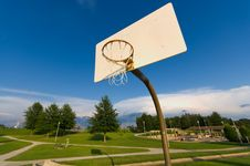 Free Basketball Hoop With Sky Stock Image - 2807781